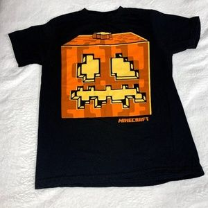 Mojang Black Graphic Minecraft T Shirt Size M